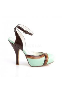 Chaussure pinup vert vintage