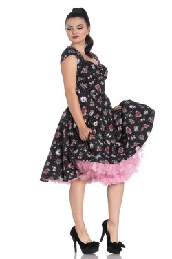 Robe hell bunny pin up fleur et pois