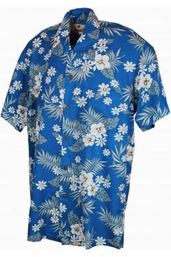 Chemise hawaienne homme bleue