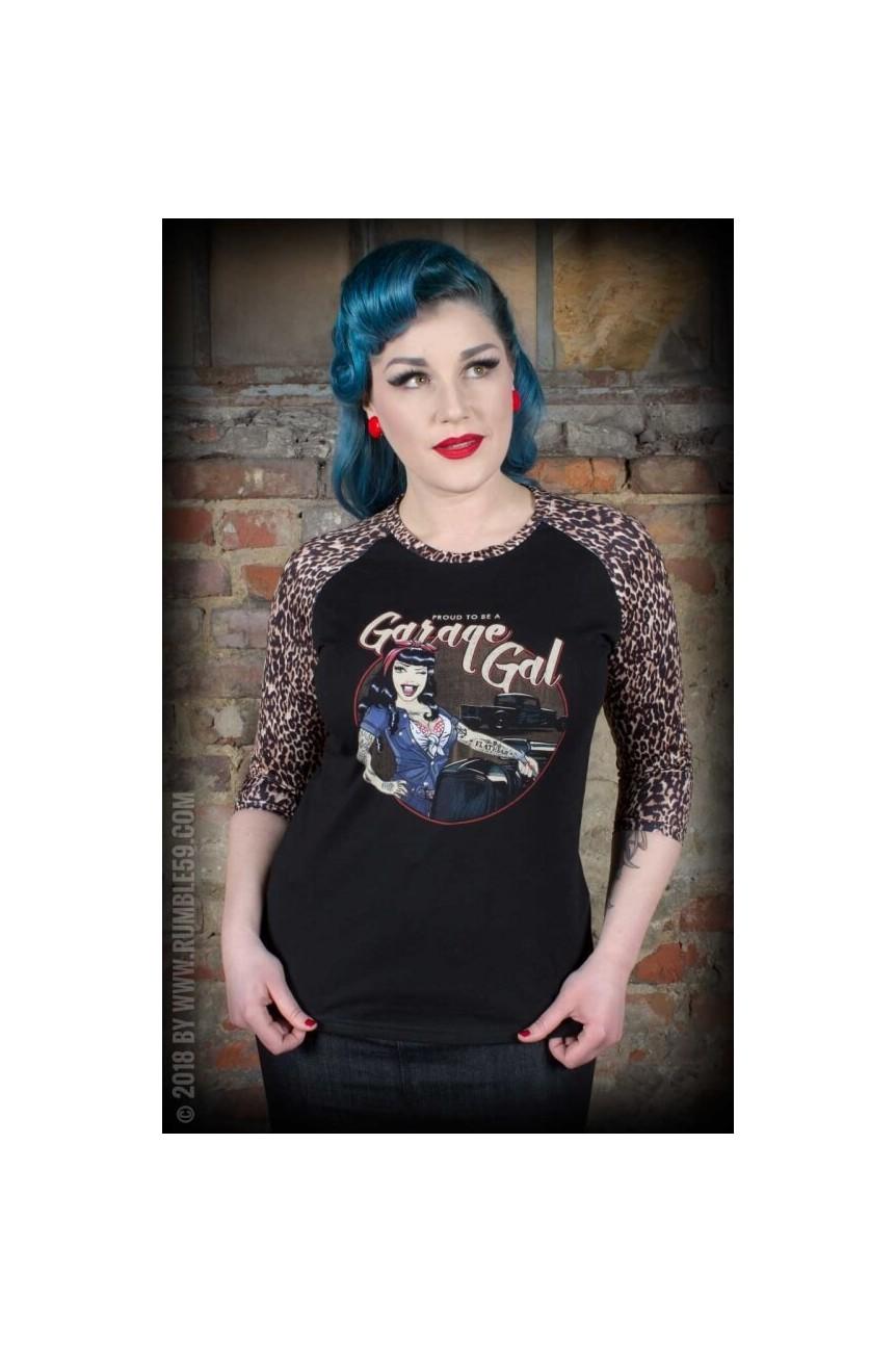 Tee shirt rockabilly femme raglant