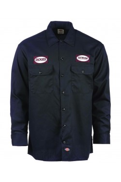 Chemise dickies manches longues avec patch dickies