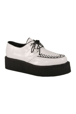 Creepers blanche demonia creeper 502