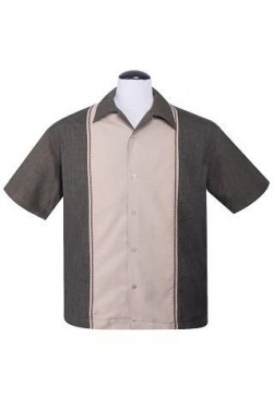 Chemise rockabilly marron