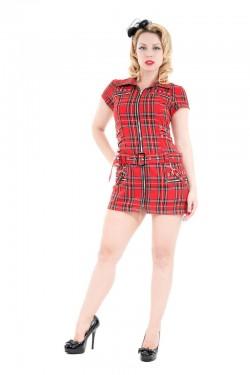 Robe punk ecossais rouge H&R