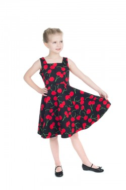 Robe enfant cerise syle pin up