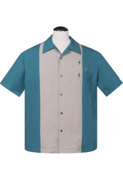 Chemise rockabilly steady clothing bleue