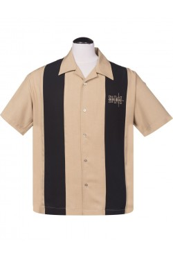 Chemise bowling beige