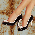 Chaussure pin-up vintage